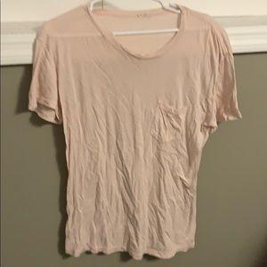 Plain faded peach colored t shirt